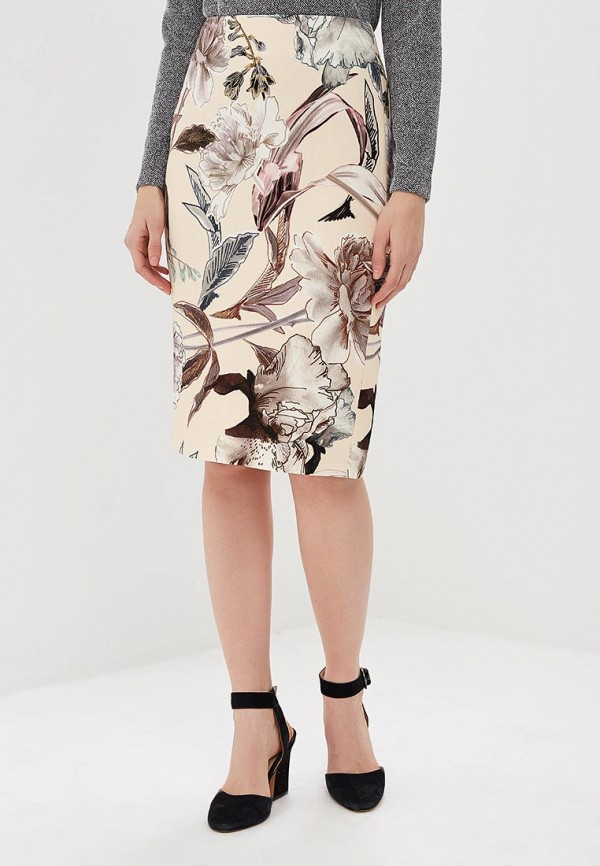 женская прямые юбка pietro filipi, бежевая