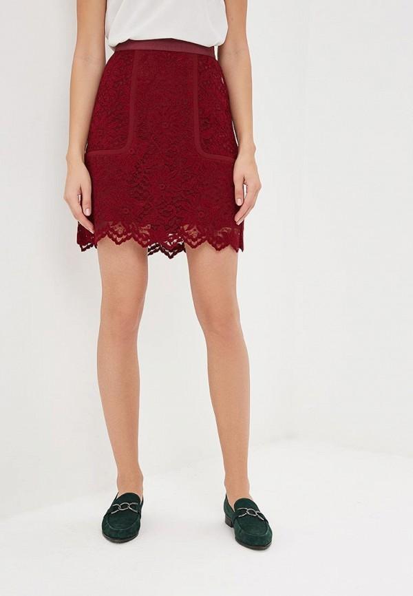 женская юбка pietro filipi, бордовая