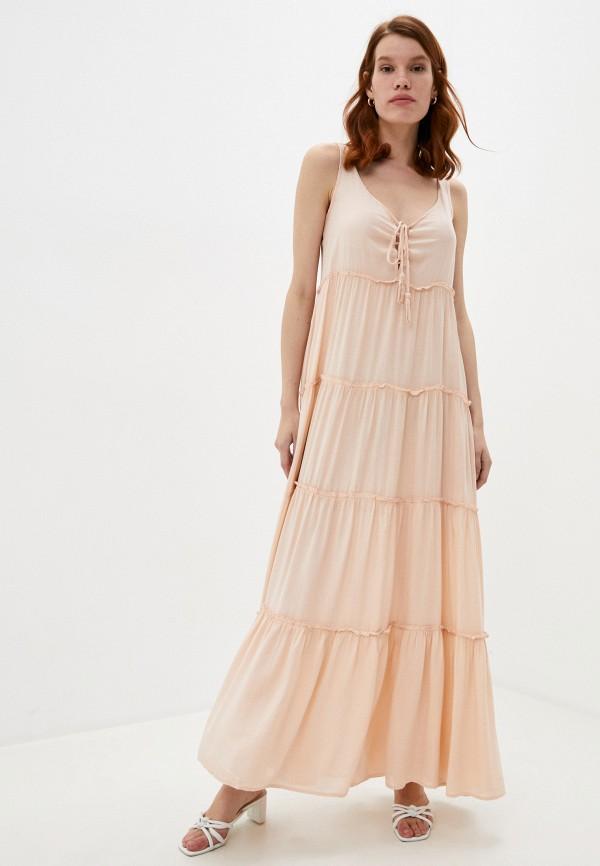 женское повседневные платье pilyq, розовое