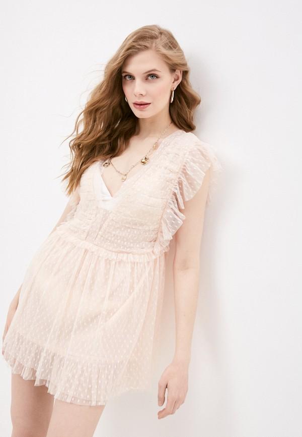 женское платье pilyq, розовое