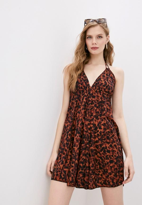 женское платье pilyq, коричневое