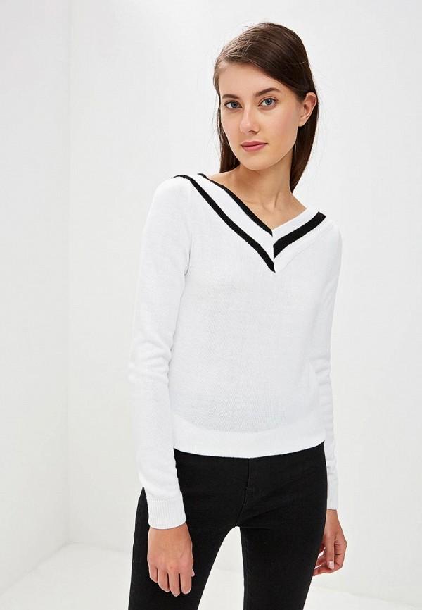 женский пуловер pink summer, белый