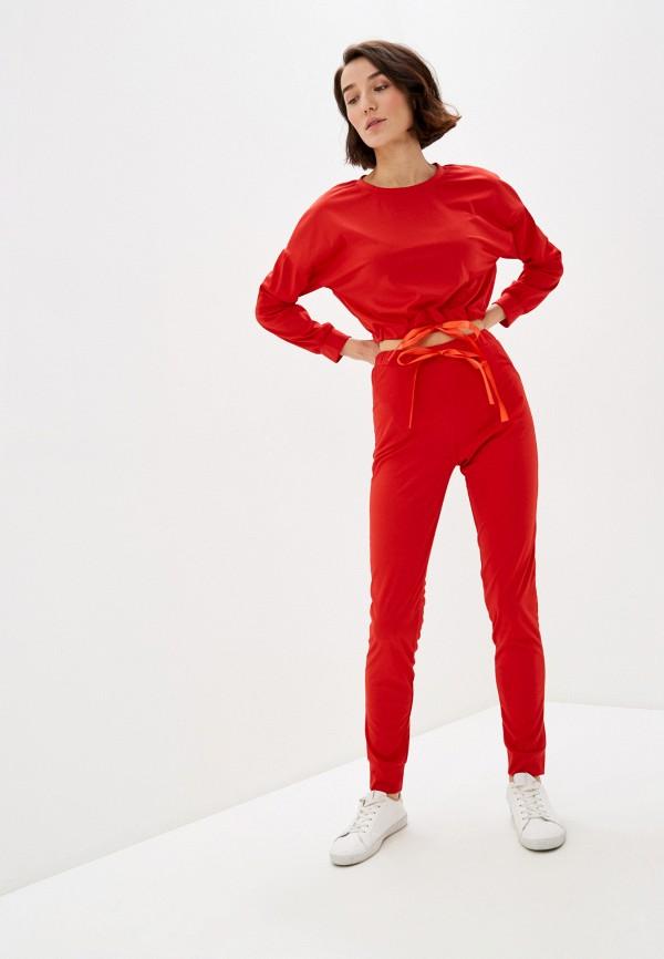 женский спортивный костюм pink summer, красный