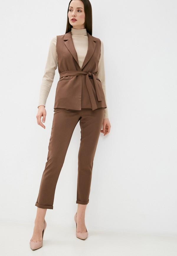 женский костюм pink summer, коричневый