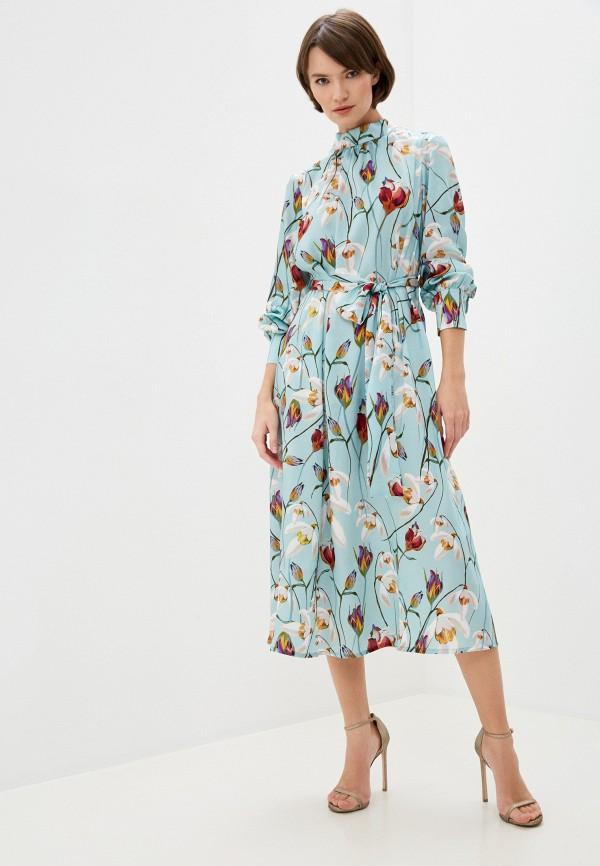 женское повседневные платье pietro brunelli milano, бирюзовое