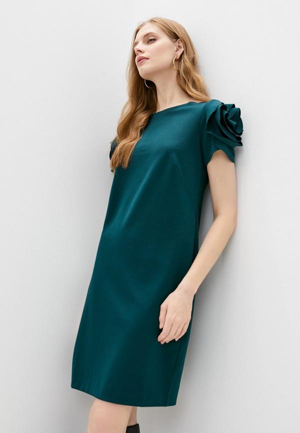 женское повседневные платье pietro brunelli milano, зеленое