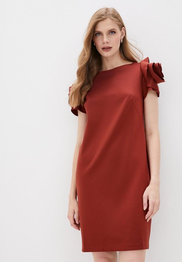 женское повседневные платье pietro brunelli milano, коричневое