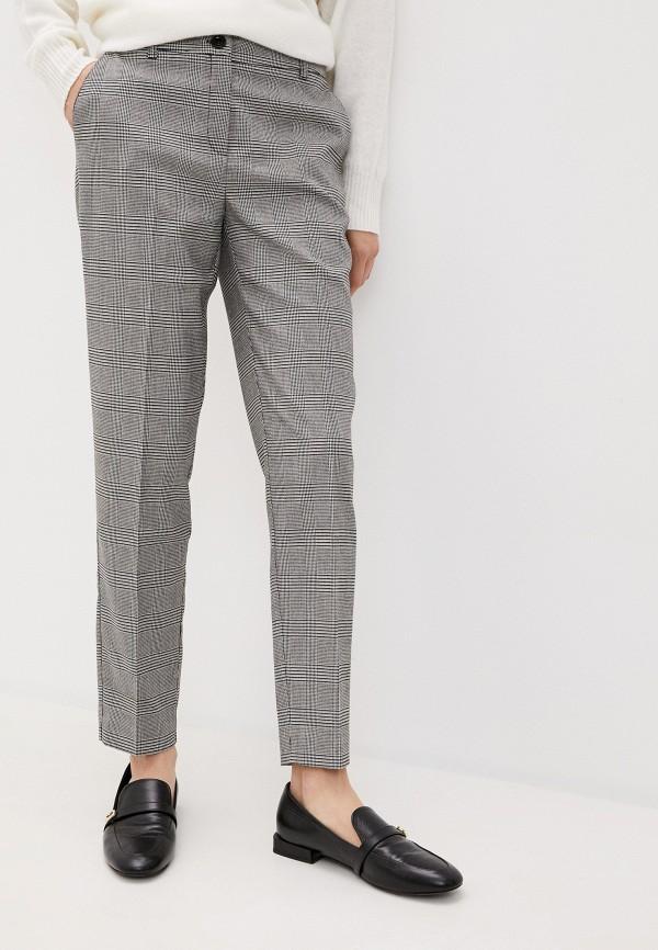 женские повседневные брюки pietro brunelli milano, серые
