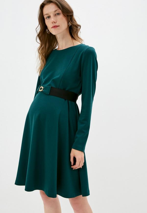 женское повседневные платье pietro brunelli maternity, зеленое
