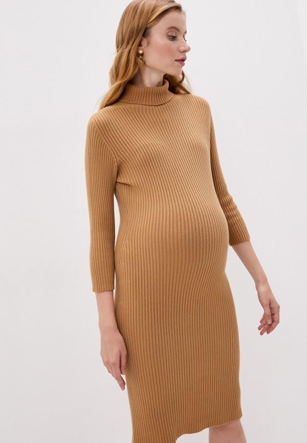 женское платье pietro brunelli maternity, бежевое