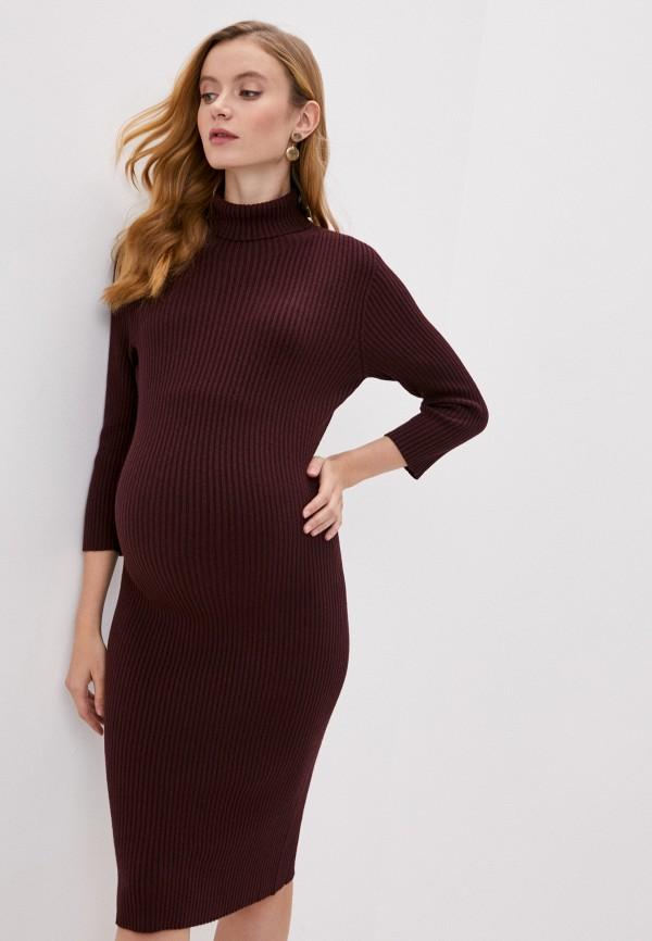 женское платье pietro brunelli maternity, бордовое