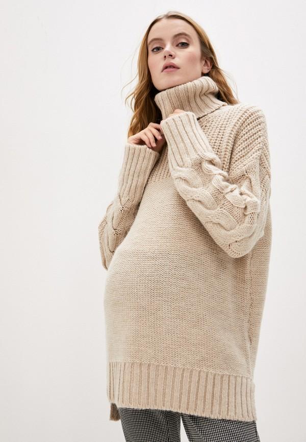 женский свитер pietro brunelli maternity, бежевый