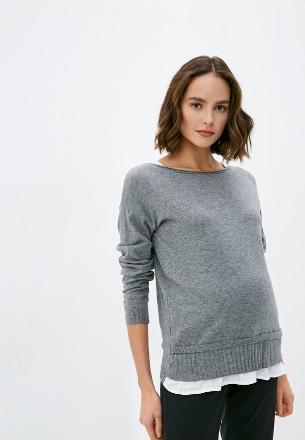 женский джемпер pietro brunelli maternity, серый