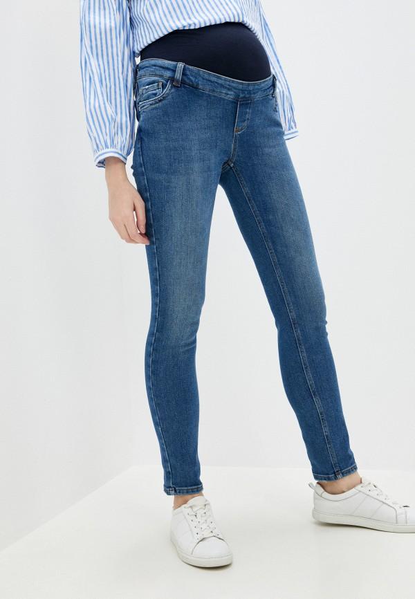 женские джинсы скинни pietro brunelli maternity, синие