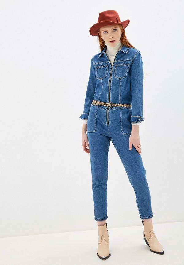 женский джинсовые комбинезон pimkie, синий