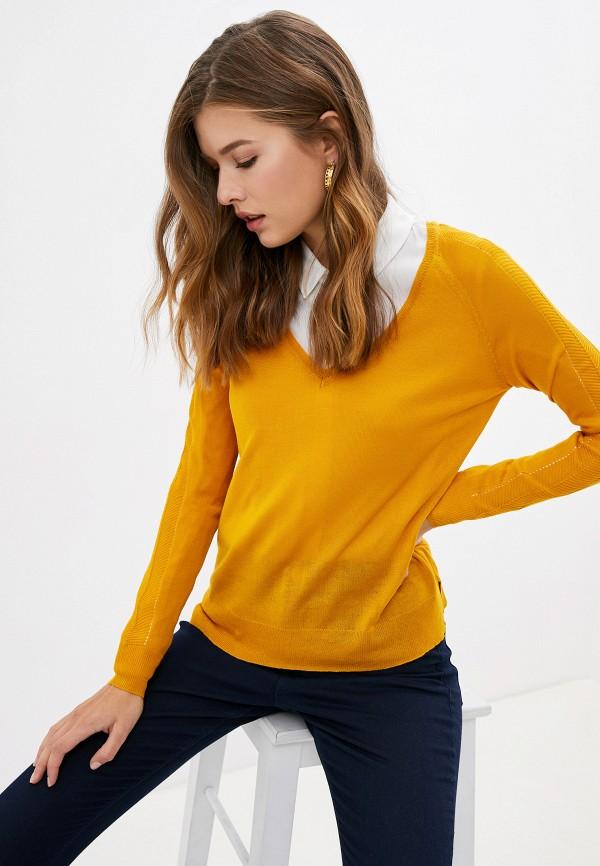 женский пуловер pimkie, желтый