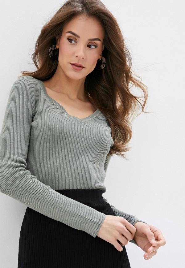женский пуловер pimkie, зеленый