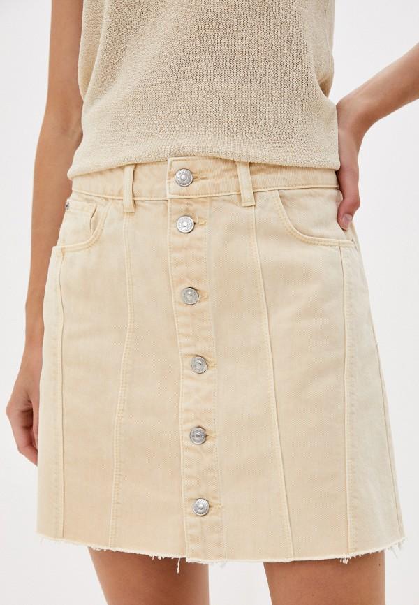 женская джинсовые юбка pimkie, бежевая