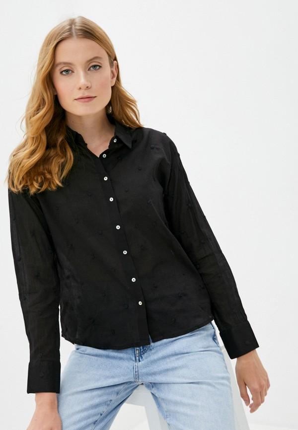 женская рубашка с длинным рукавом pimkie, черная