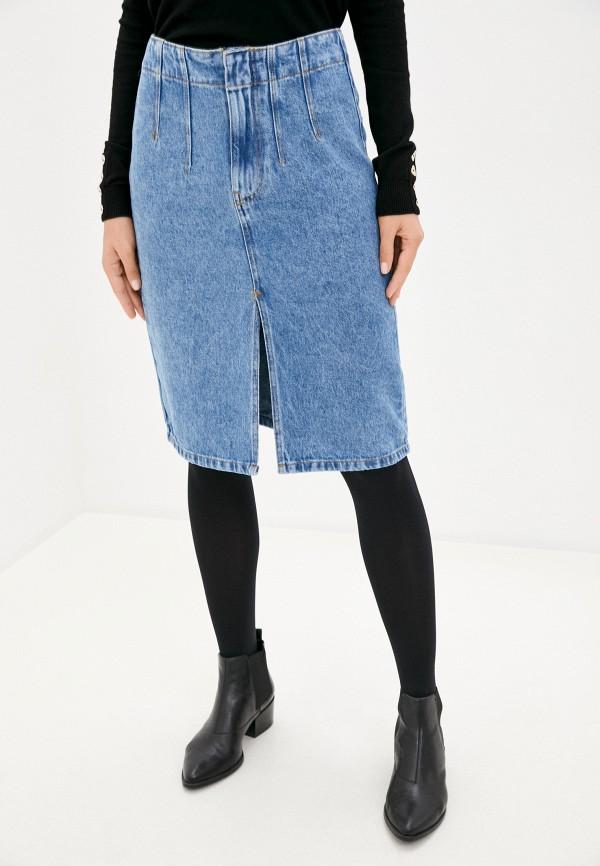 женская джинсовые юбка pimkie, голубая