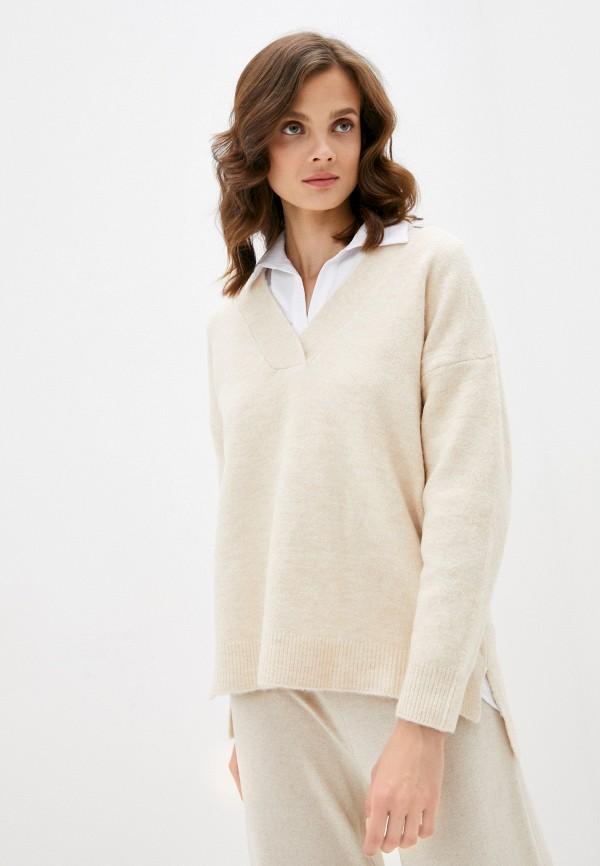 женский пуловер pimkie, бежевый