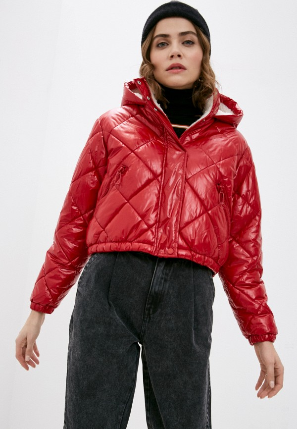 женская куртка pimkie, красная