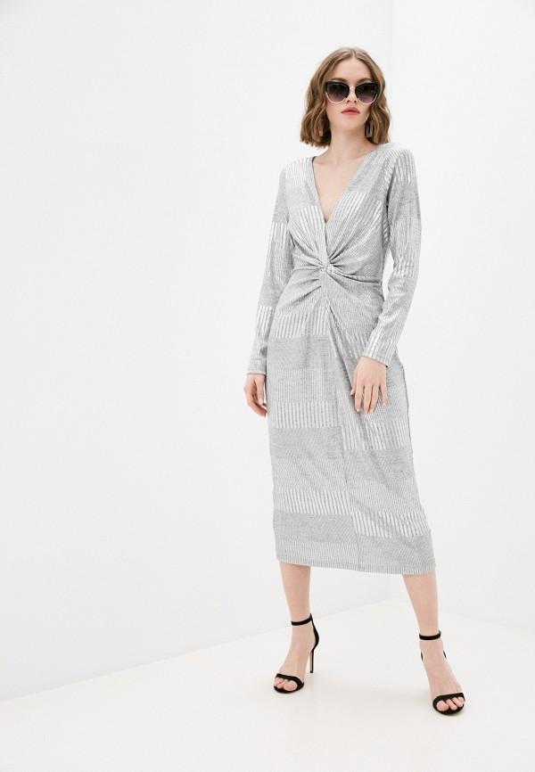 женское вечерние платье pimkie, серебряное