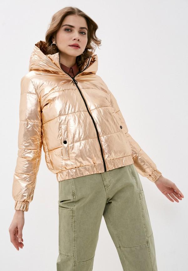 женская утепленные куртка pimkie, золотая