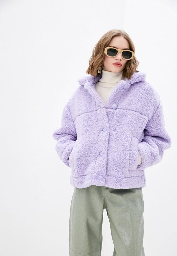 женская шуба pimkie, фиолетовая