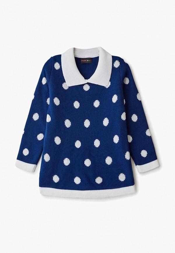повседневные платье pink kids для девочки, синее