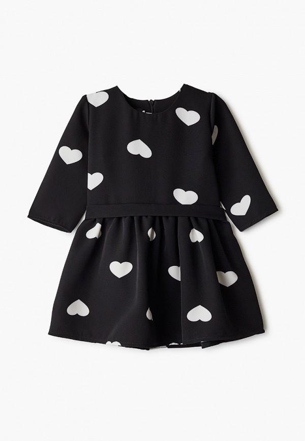 повседневные платье pink kids для девочки, черное