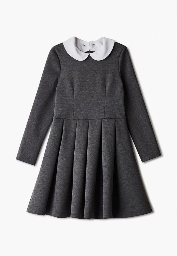 повседневные платье pink kids для девочки, серое