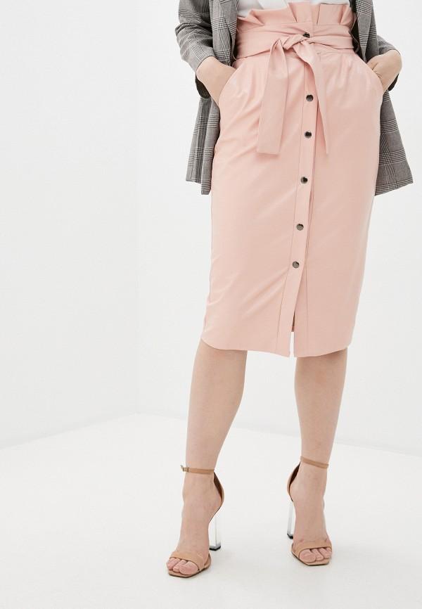 женская юбка pink orange, розовая
