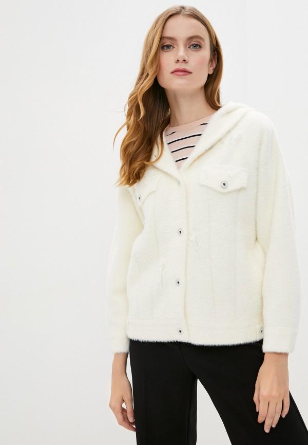 женская куртка pink orange, белая