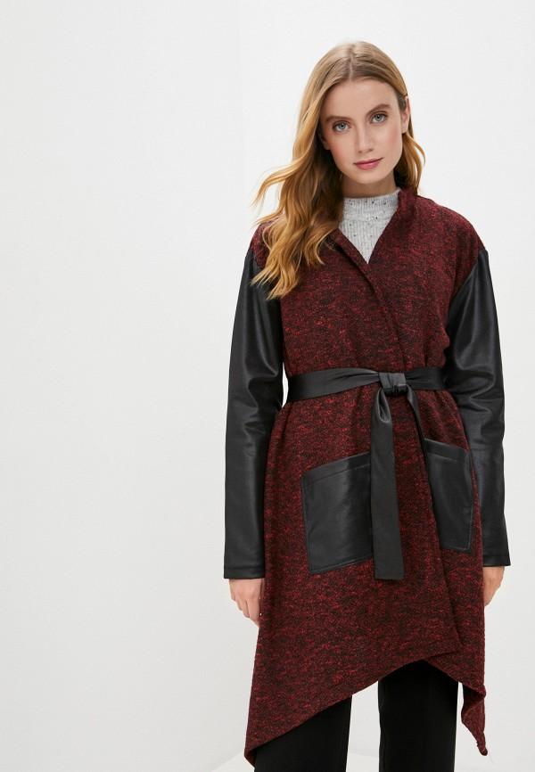 женское пальто pink orange, красное