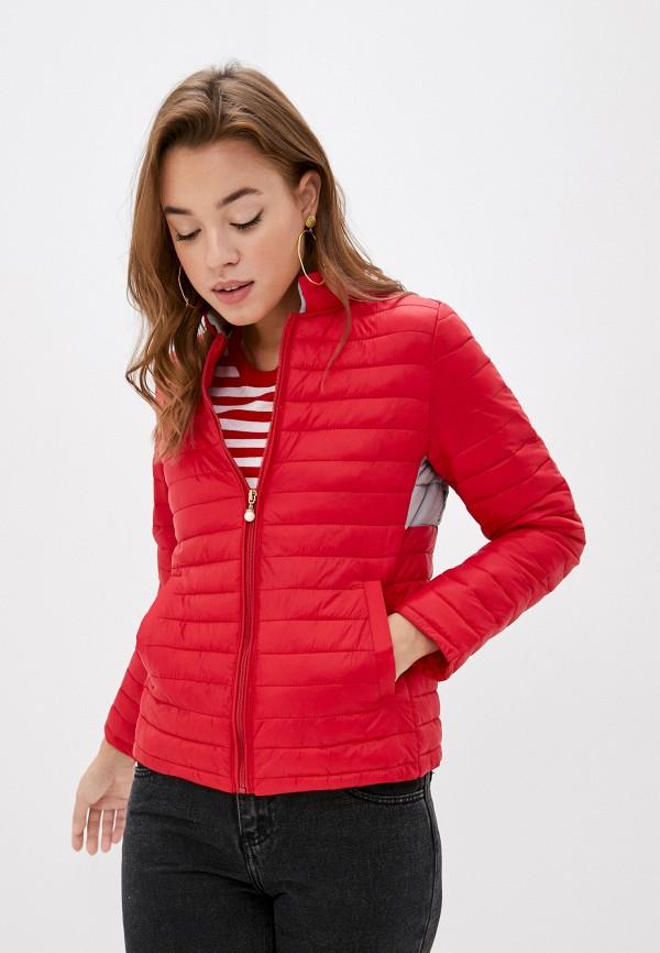 женская куртка pink orange, красная