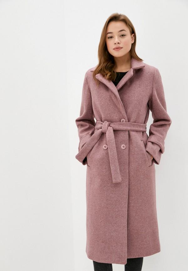 женское пальто pink orange, розовое