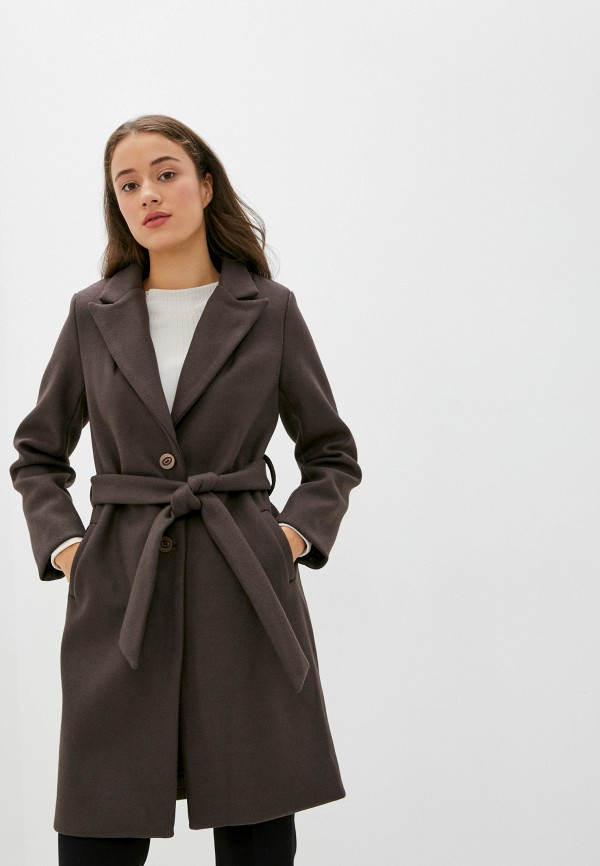 женское пальто pink orange, коричневое