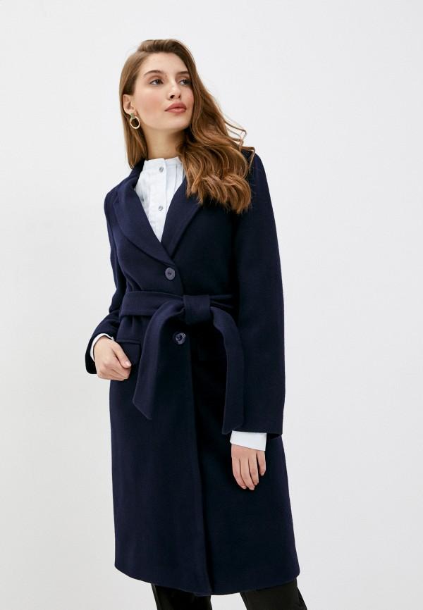 женское пальто pink orange, синее