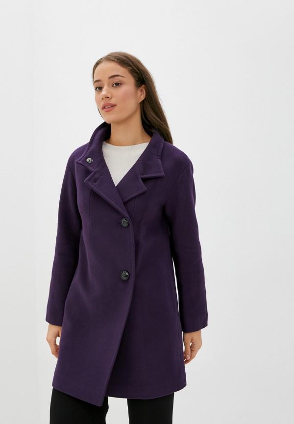 женское пальто pink orange, фиолетовое