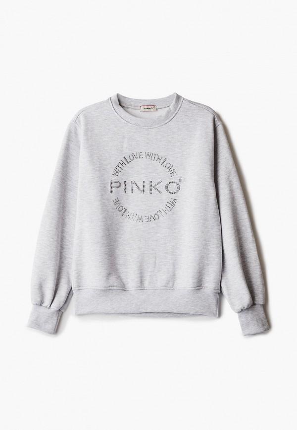 свитшот pinko up для девочки, серый