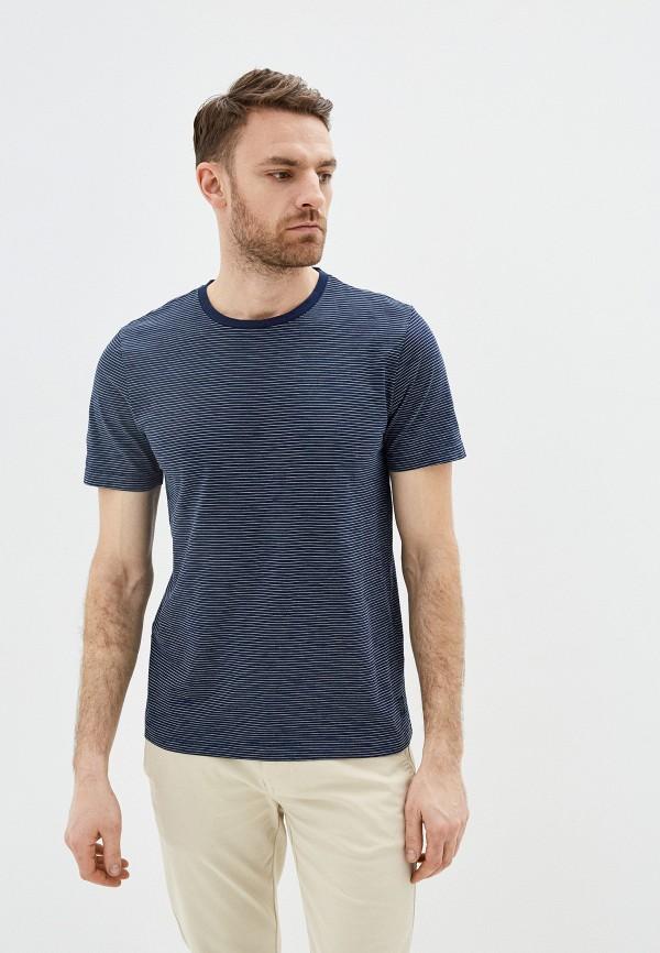 мужская футболка с коротким рукавом pierre cardin, синяя