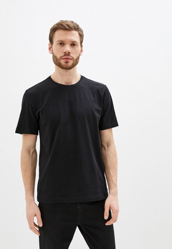 мужская футболка с коротким рукавом pierre cardin, черная