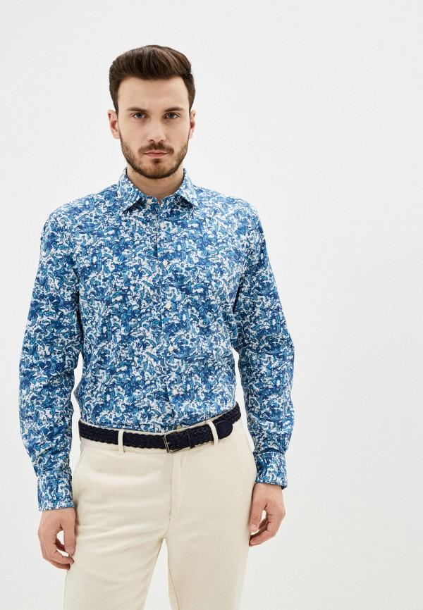мужская рубашка с длинным рукавом pierre cardin, синяя