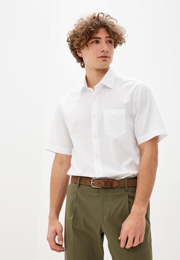 мужская рубашка с коротким рукавом pierre cardin, белая