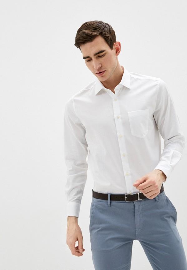мужская рубашка с длинным рукавом pierre cardin, белая