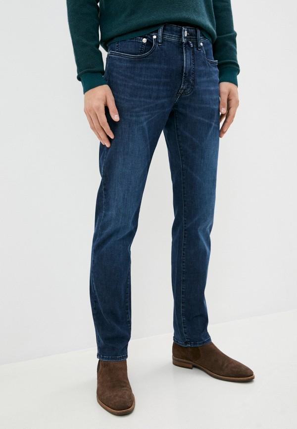 мужские зауженные джинсы pierre cardin, синие