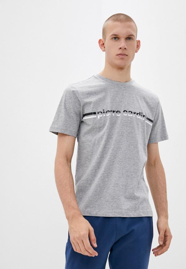 мужская футболка pierre cardin, серая