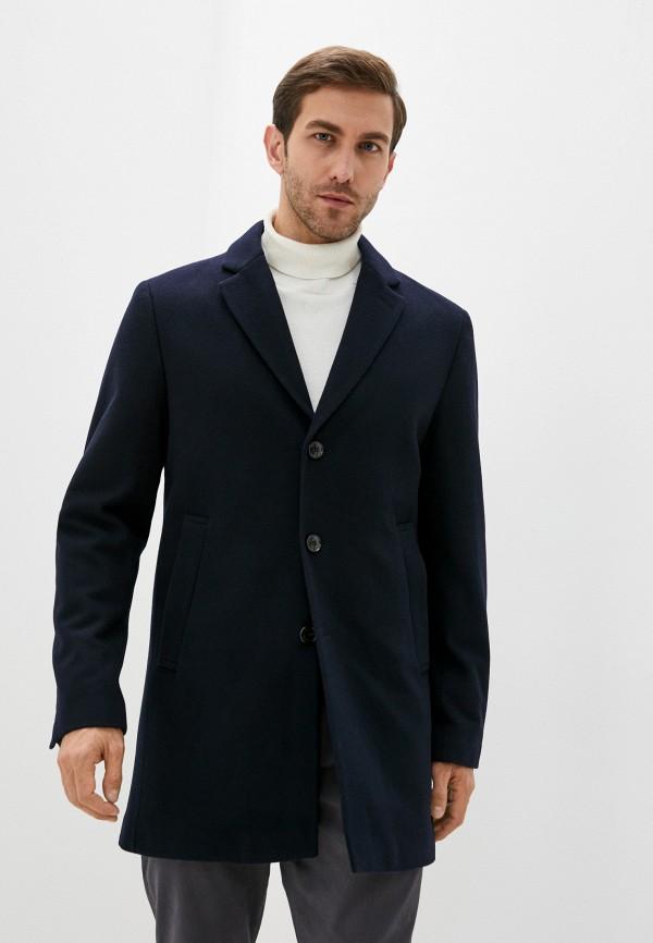 мужское пальто pierre cardin, синее