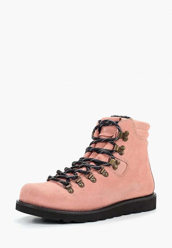 женские ботинки pieces, розовые